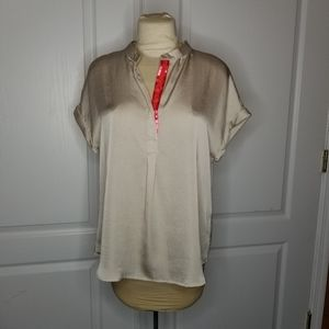 Violet & Claire champagne short sleeve XL top PINK